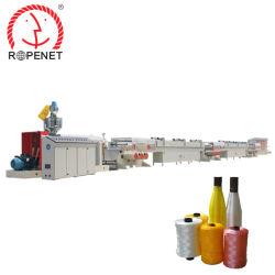 PP polipropileno, polietileno de alta eficiencia de red de pesca de la línea de extrusión de hilados de filamentos que hace la máquina