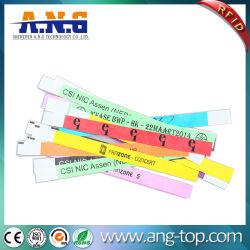 Festival Bracelet tyvek papier jetable utilisé