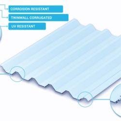 Heißer Bereichs-Wärmeisolierung-Dach-Material-Höhlung Twinwall UPVC Dach-Blatt