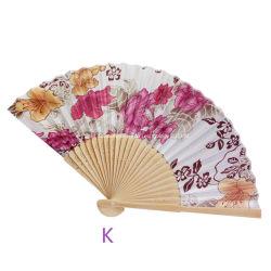 El verano Vintage Bamboo Flor de mano plegable el ventilador Ventilador de techo parte Pocket Regalos Abanicos