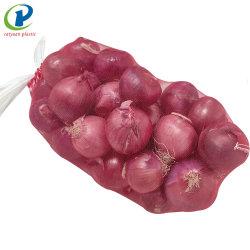 China Frutos de batata cebola vegetais de fábrica de malha de embalagem para sacos de compensação tubulares