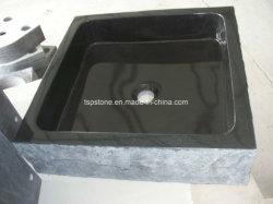 普及したデザインのカスタマイズされた花こう岩の石の容器の洗面器
