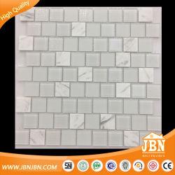 Weiß, glänzend, 2 x 2, Mosaikglas, Außenwand aus Tile (M430003)