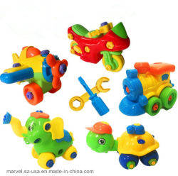 Au début de l'apprentissage DIY VOITURES MOTO Enfants Jouets éducatifs Puzzle 3D en plastique