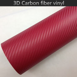 1.52*28m película preta do interior do carro de tamanho 3D vinil em fibra de carbono com liberação de ar