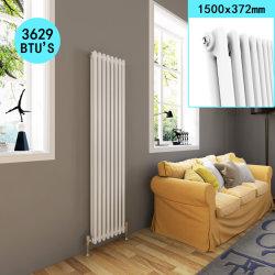 Sally 450X1550mm panneau vertical en fonte traditionnelle du radiateur avec couche de poudre à triple couche pour la Maison blanche/Salle de bains/chambre/Cuisine/Salle de séjour