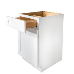 Fabrication de bois haute paroi de base de coin lavabo armoires de cuisine tiroir