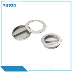 Y112-2 pequena de plástico vazio Makeup Caso Blusher Pó Caixa de plástico