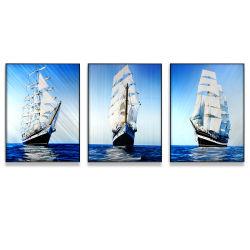 항해 금속 벽 예술, 현대 가정 장식, 추상적인 벽 조각품 동기생 (각 위원회를 위한 24X32 인치)