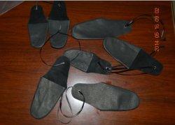 Calado de los dedos de cuero Protector de dedo pulgar &Ayuda suave y flexible Material Dedales