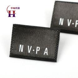 Nom de marque personnalisée de gros célèbre logo imprimé des étiquettes de vêtements centré la machine pour les vêtements