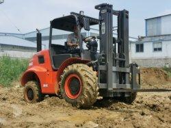 4ton/4000kg 4X4 4 輪駆動オールラフテレインフォークリフト Carretilla Elevadora トドテローレンオのセール