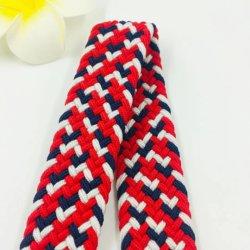China Fabricante mayorista moda Leatehr tejido de malla tejida de Cinta de tejido elástico, trenzado CORREA CORREA CORREA
