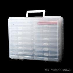 """29514 16 случае организатор фото ящика для хранения и прогулочных судов Keeper вмещает 4"""" X 6"""" фотографии"""