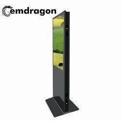 床の立場32インチのプレーヤーを広告する無線3Gトーテムの超細い二重味方されたデジタル表記