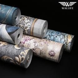 Bajos precios diseños de papel tapiz de PVC de la casa de papel tapiz de pared Decoración