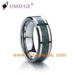 다색 텅스텐 카바이드 링(Carbide Ring)과 탄소 섬유