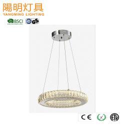 高い等級の水晶シャンデリアLEDのペンダント灯の現代ホテルの装飾的な大型のハングの吊り下げ式の照明LED水晶ランプの照明