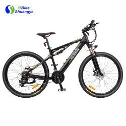 26-дюймовый алюминиевая рама электрический помочь горный велосипед с задним потрясений