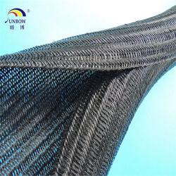 Selbstschließend UL-Haustier-Kabel-Sleeving Polyester umsponnenes expandierbares Sleeving