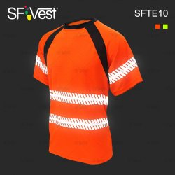 工場習慣100%年のポリエステルMicrofiberファブリック高い可視性の安全反射Tシャツの機密保護の衣類