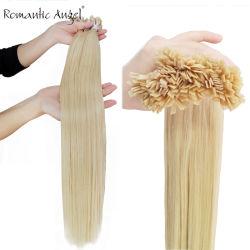 Blonde doppelte gezeichnete Remy Italien Keratin Prebonded flache Spitze-starke Menschenhaar-Extensionen