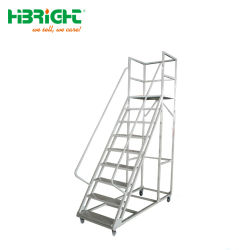 Matel Movable Steel Safety Warehouse Rolltreppen