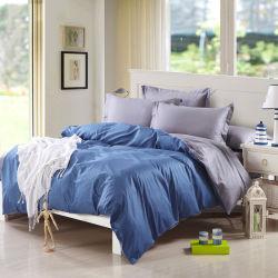 Commerce de gros 200tc tissu à armure sergé teint clair drap de lit défini