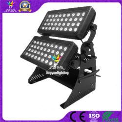 Для использования вне помещений 72X10W RGBW 4в1 города трехцветный светодиод Освещение на стену