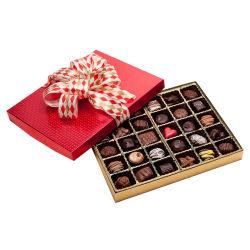 Os doces de papelão personalizada elegante caixa de chocolate com tampas