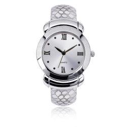La mujer de cuarzo de la moda Brazalete Pulsera de Puño simple banda de cuero elegante Watch (JY-AL013)