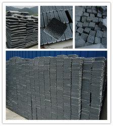 Naturelle gris/noir/rouge/jaune/basalte/granit Curbstone/a dégringolé de galets/Curbstone/Paving/finisseur Stone/dalle/cube/galets/Pierre cubes pour l'allée/Jardin