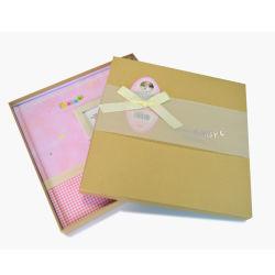 DIY 첫번째 년 판지 상자를 가진 기록적인 사진첩 아기 기억 장치 책