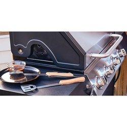 Набор инструментов для гриля для барбекю из нержавеющей стали для приготовления гриля для барбекю и аксессуары для 5-в-1 с барбекю из естественной древесины, площадка для барбекю кухонные принадлежности для приготовления пищи в походах