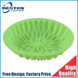 Flores grandes de torta de forma redonda de silicona de molde bandeja para hornear.