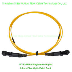 MTRJ-MTRJ Duplex Sm mm cordon de raccordement du câble à fibre optique