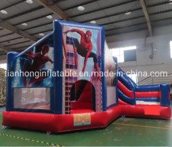 5X4m Spider Man надувные Bouncer Сдвиньте замок дом возврата прыжком замок