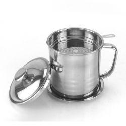 304 Filtro de óleo de cozinha de aço inoxidável podem Pot do Filtro de Óleo