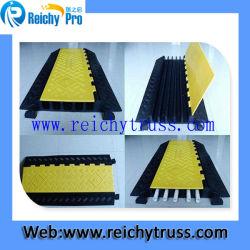 Rampa di protezione per cavi in gomma a 2 canali, protezione incrociata per cavi in gomma