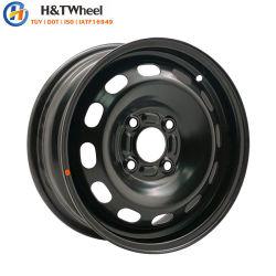 H&T 454403 колеса 14x5.5 4X108 Черный E-покрытие стального колеса легковой автомобиль легкосплавных колесных дисков