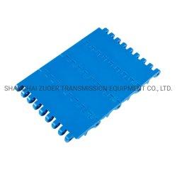 Flache Oberseite-Fleischverarbeitung-Nahrungsmittelgrad-Förderband-industrieller modularer Kettenplastikriemen 8001