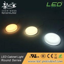 LED Встроенный круглый кабинет фонари освещения с регулируемой яркостью фонаря направленного света коллектора под набегающей подсветки для коммутационных шкафов шкаф витрина шкаф, модель B