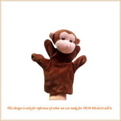 Groothandel pluche hand Puppet Cute Animal hand Puppet for Child