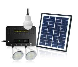 البيع بالجملة مجموعة الطاقة الشمسية 3 نظام الطاقة الشمسية مصباح LED مع شحن الهاتف