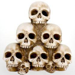Decorazione della testa del cranio di Halloween del Figurine della resina del mestiere di Polyresin