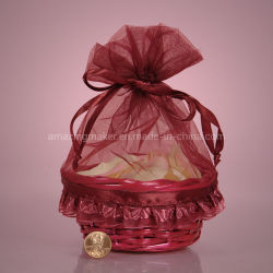 2013 best-seller Organza Cesto de Sacos para embalagem de Artesanato