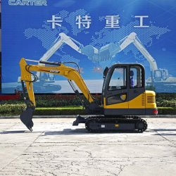 Carter45-8CT b (4.5T) mini-excavateur de pelle rétro excavatrice hydraulique sur chenilles