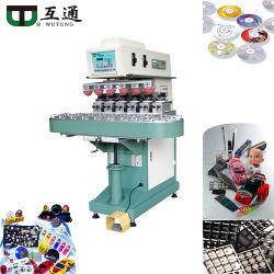 Wutung semi-Automatic1-6 de Printer van de Machine van de Druk van het Stootkussen van de Kleur voor de Vlakke Oppervlakte van het Elektronische Deel om het Ovale Stationaire Stuk speelgoed van de Fles