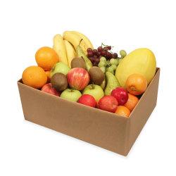 علبة ورق مجعدة ذات حجم مخصص للفواكه، طي صندوق عرض الفاكهة