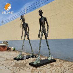 Fabriek op maat gemaakte beroemde reproductie de Walking Man Bronze Figuur beeldhouwkunst